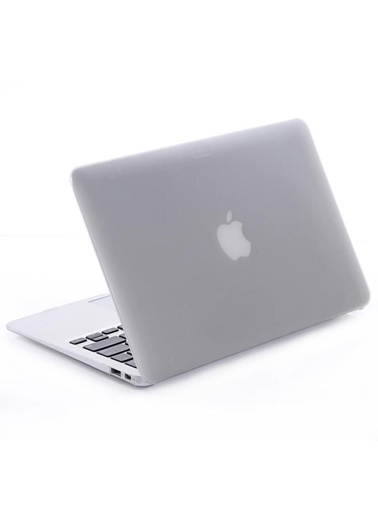 Techmaster Macbook Pro 13 Retina A1502 A1425 Kılıf Rubber Kapak Beyaz